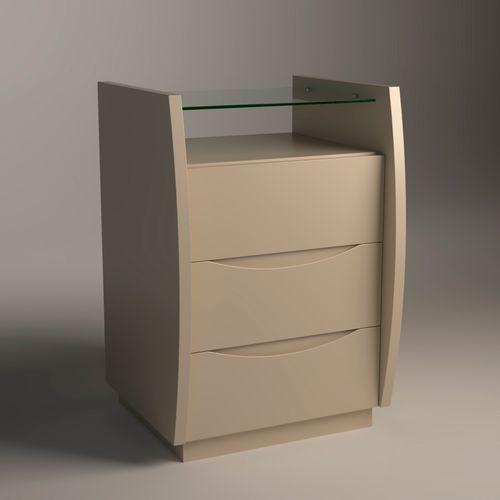 Mesa-de-Cabeceira-Atila-50cm-Cappuccino-com-tampo-de-vidro